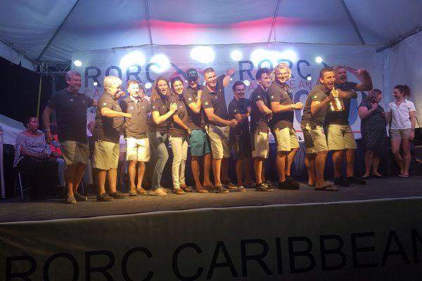 Pata Negra crew RORC 600 2018 Prizegiving